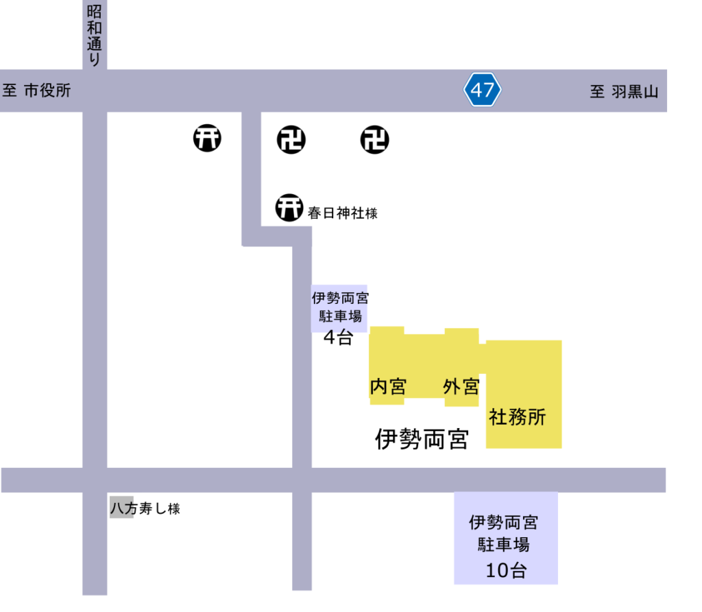 伊勢両宮 駐車場地図